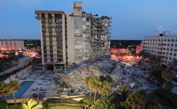 В Майами обрушился 12-этажный дом. Почти 100 человек пропали без вести