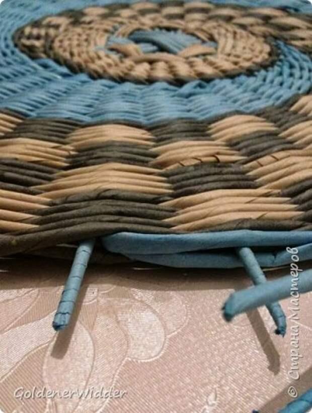 Мастер-класс Плетение Панно 40 см Спиральное плетение Бумага газетная Трубочки бумажные фото 25