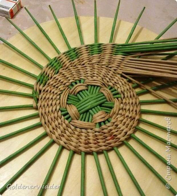 Мастер-класс Плетение Панно 40 см Спиральное плетение Бумага газетная Трубочки бумажные фото 37