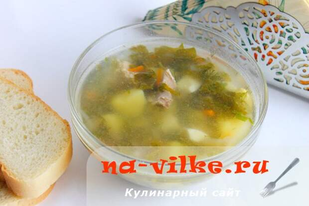 Щавелевый суп с курицей