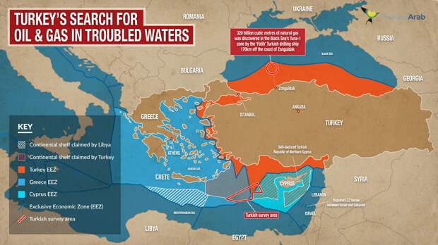Турция и конфликт в Восточном Средиземноморье