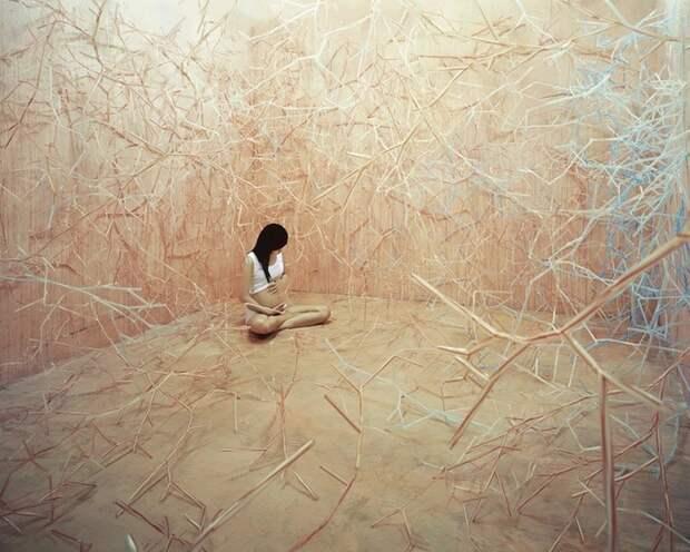 Кореянка воплощает фантазии из снов в реальность без использования Photoshop