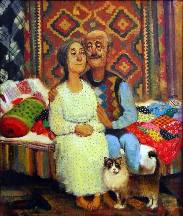 Тепло и уют в картинах грузинского художника Ладо Тевдорадзе