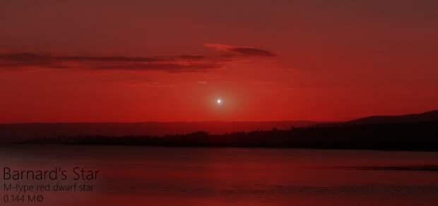 А это Звезда Барнарда Альдебаран, закат, солнце