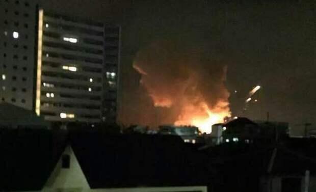 Ужасный взрыв потряс Японию: военная база США полностью уничтожена