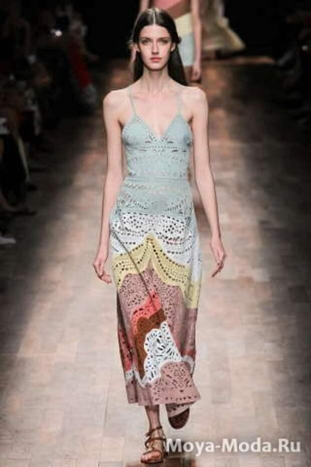 Модные сарафаны весна-лето 2015 Valentino