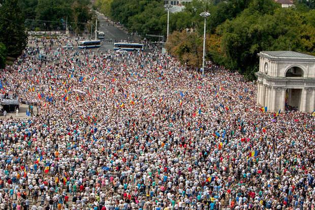 В Кишиневе проходит антиправительственная акция