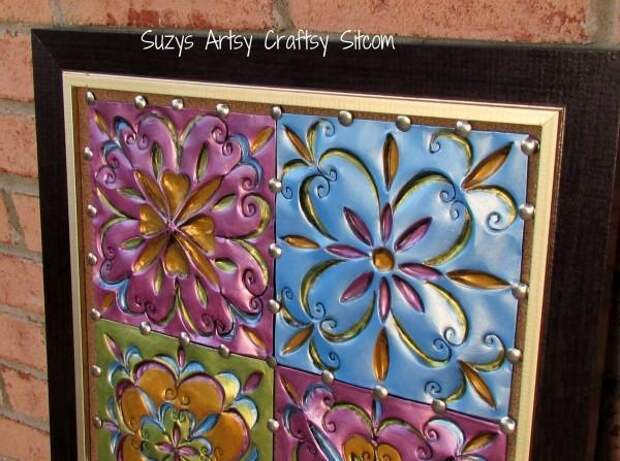 плитка из алюминиевой фольги от Сьюзи Майерс