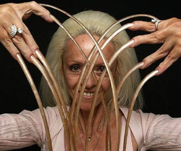 Самые длинные ногти в мире у женщины 2015, люди, рекорд гиннеcса