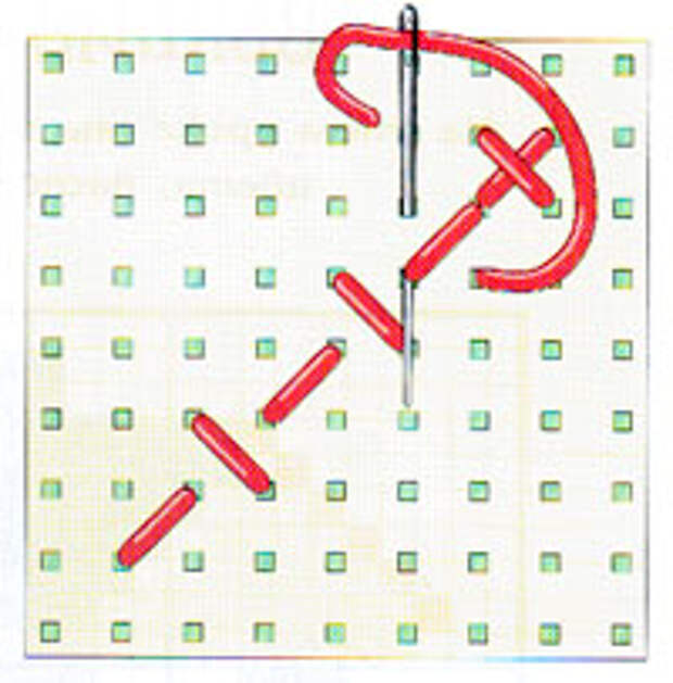 Вышивка крестиком по диагонали. Простая диагональ (фото 9)