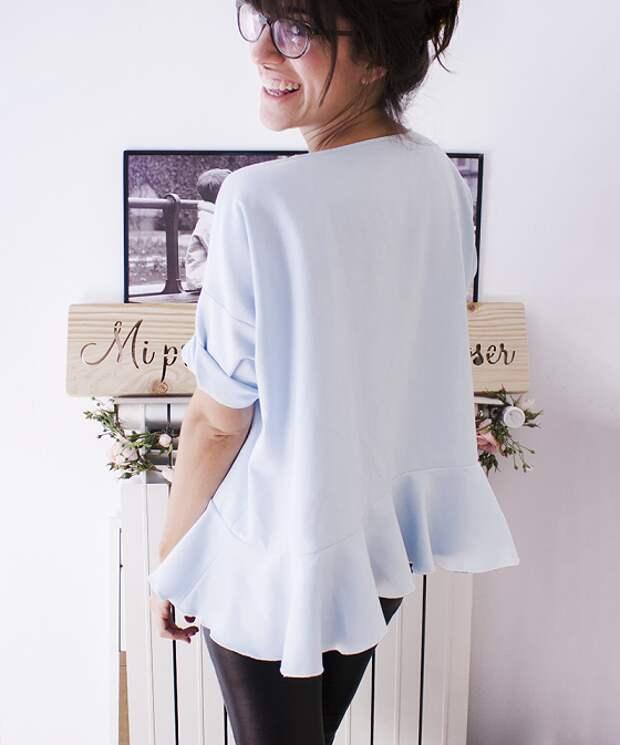 Блуза с баской оборкой выкройка