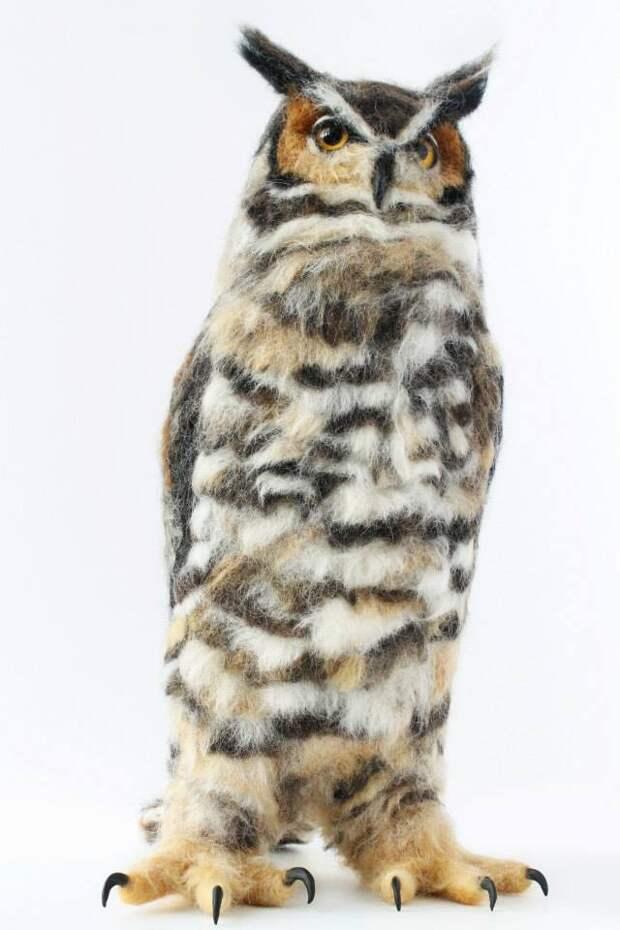 Валяные звери от Yvonne Herbst  (трафик, Diy)