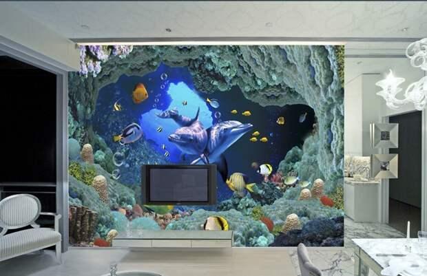 Наклейки и фотообои в интерьере: меняем стены, как перчатки