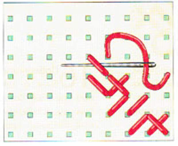 Вышивка крестиком по диагонали. Двойная диагональ справа налево (фото 8)
