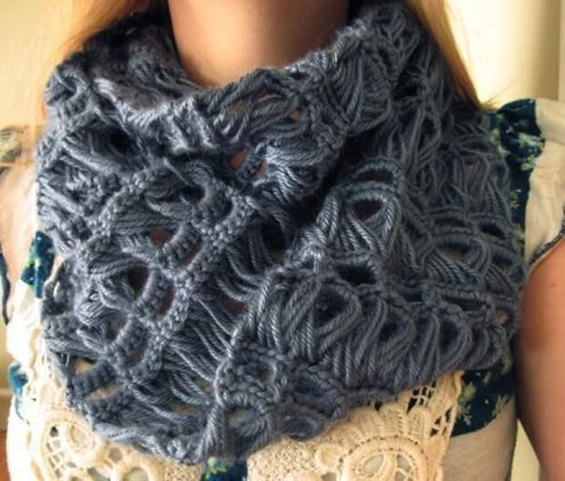 Как связать крючком красивый шарф (Diy)
