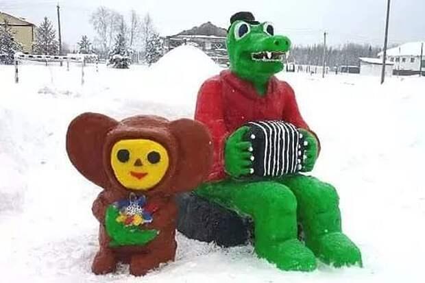 Только наши люди могут сотворить сказку даже из снега!⛄ ⛄ ⛄ ⛄