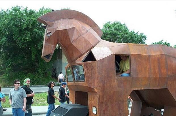 """1. Автомобиль """"Троянский конь"""" автомобили, концепт-кары, странности"""