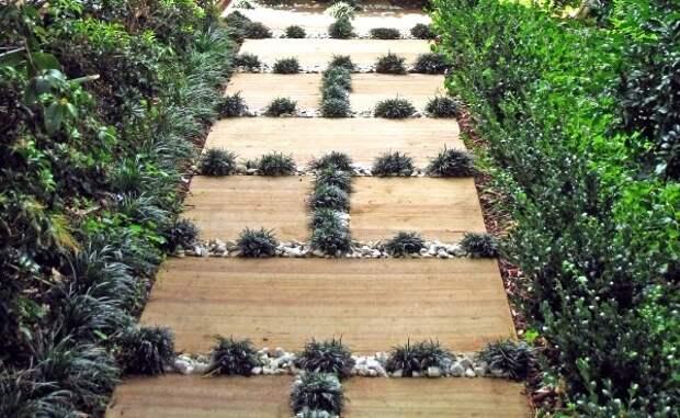 Креативные садовые дорожки дача, дорожки, сад