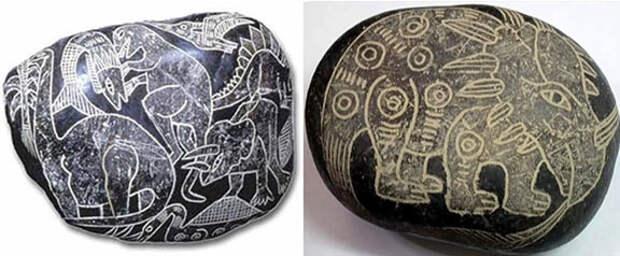 Вероятные древние изображения динозавров