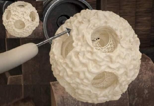 Технология изготовления заготовки для резного шара.