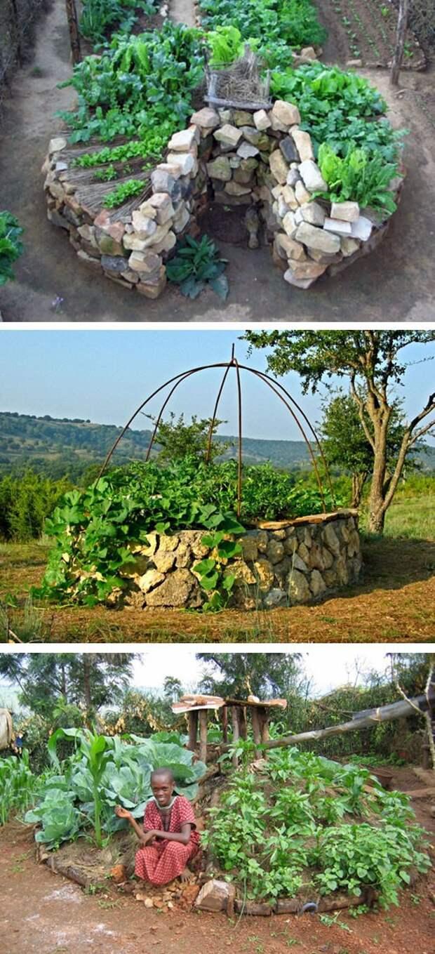 примеры садов типа замочная скважина