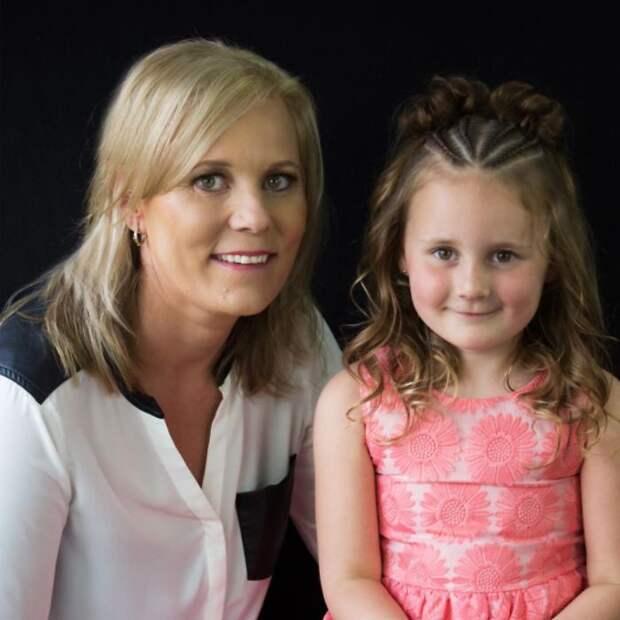 Шелли и Грейс  дочь, коса, мама, прическа