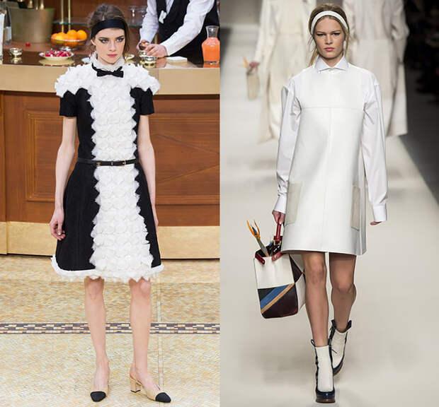Справа — Chanel, слева — Fendi