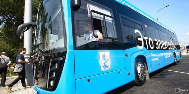 Электробусы запустили еще по одному маршруту в Москве. Фото: mos.ru