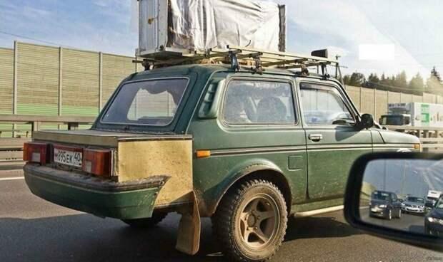 Вы тоже никогда не видели Ниву в кузове седан? Рукожоп, автомобили, автосервис, жигули, прикол, тюнинг, юмор