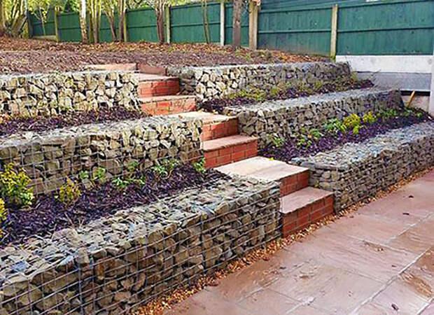Идеи подпорных стенок на участках с уклоном