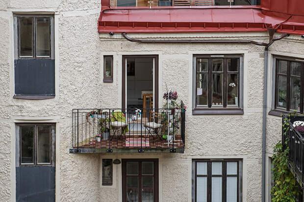 Романтичная однушка с видом на внутренний дворик