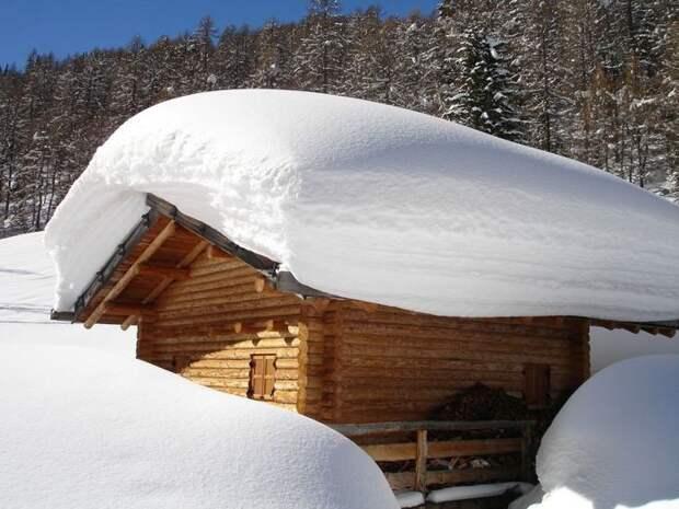 Снег на даче — друг и враг
