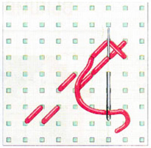 Вышивка крестиком по диагонали. Двойная диагональ слева направо (фото 9)