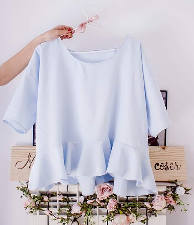 Блуза с баской (Diy)