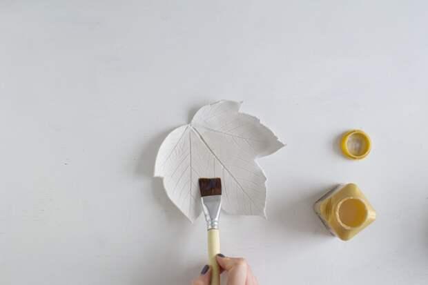 Тарелочки-листья (Diy)
