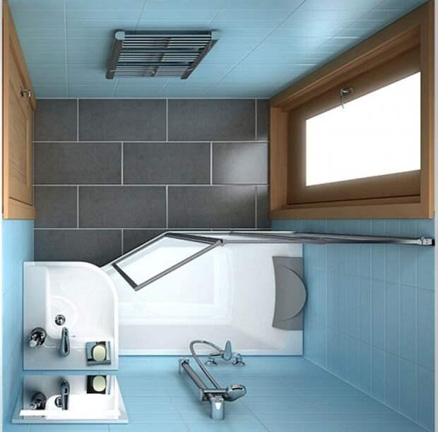Отличные идеи для маленькой ванной комнаты
