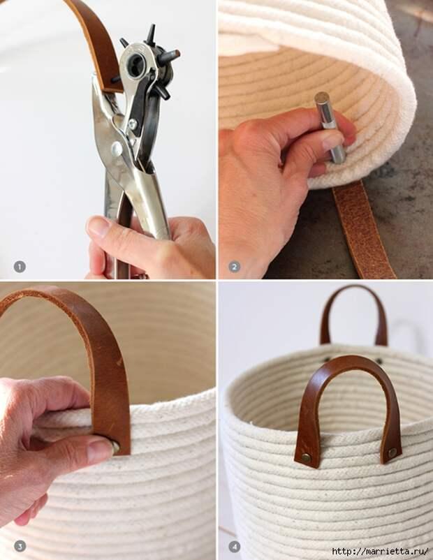Корзинка для рукоделия из бельевой веревки (5) (540x700, 263Kb)