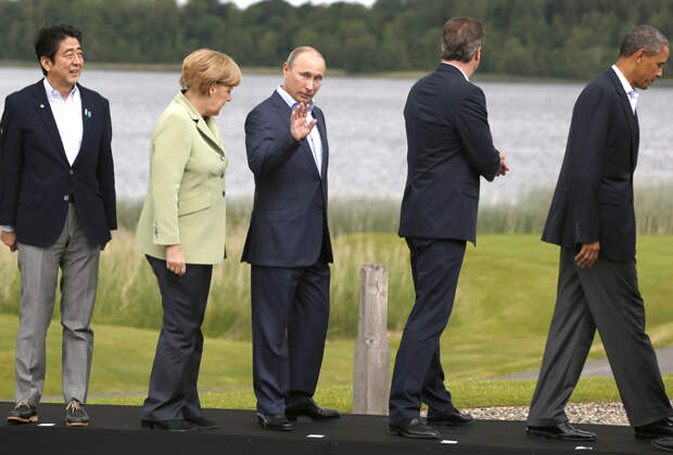 Последний раз Путин участвовал в саммите «Большой восьмерки» в 2013 году