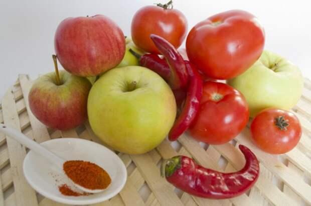 Ингредиенты для приготовления кетчупа с антоновкой