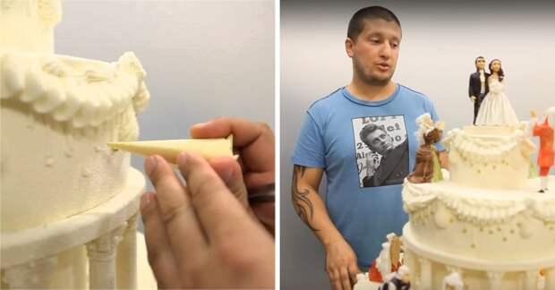 Если ты никогда не видел, как украшает торты Ренат Агзамов, то потерял полжизни. Настоящие шедевры!