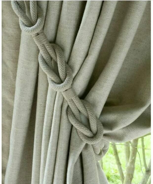 шторы своими руками веревка