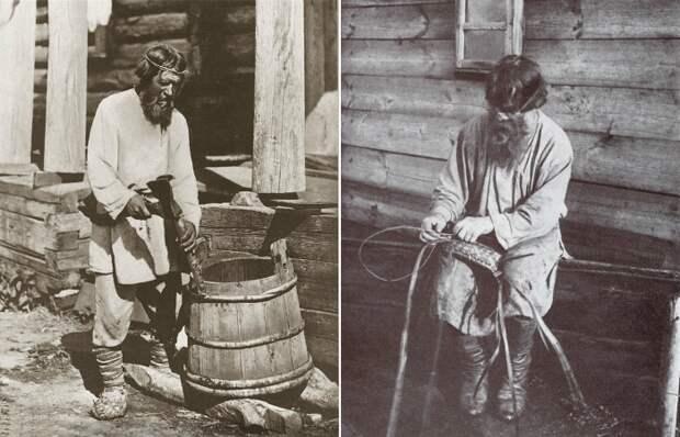 30 фотографий русских крестьян-ремесленников за работой