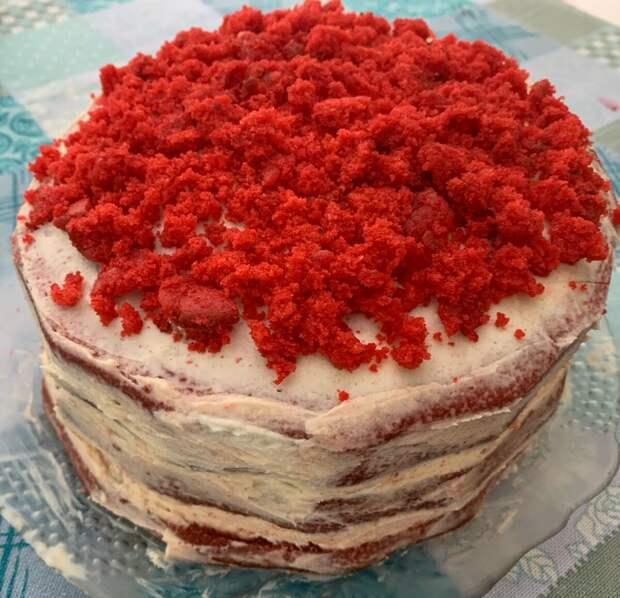 """Делюсь с Вами простым рецептом торта """"Красный Бархат"""""""