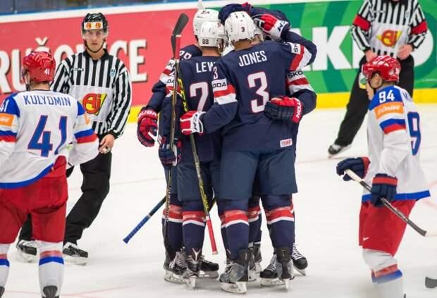 Сборная России уступила США на чемпионате мира по хоккею