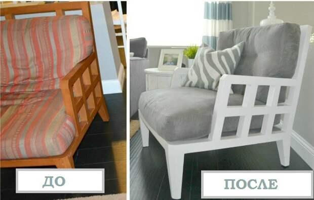 Забытое на даче кресло Редизайн, переделка, советская мебель
