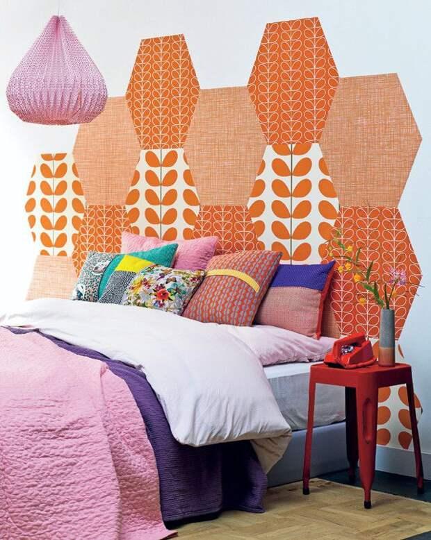 Пэчворк стенка в спальне