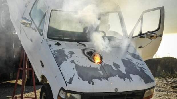 Демонстрация работы лазерной пушки