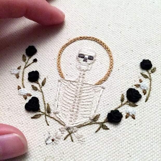 Страшно милая вышивка