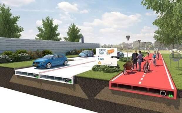 Росавтодору предлагают присмотреться к пластиковым дорогам