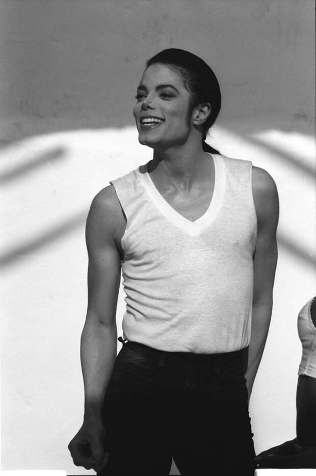 Майкл Джексон (Michael Jackson) и Наоми Кэмпбелл (Naomi Campbell) на съемках клипа In The Closet (1992), фотография 2